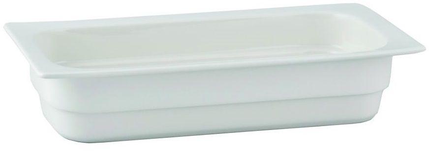 Pojemnik GN 1/3 gł. 6,5 cm porcelanowy biały RAK