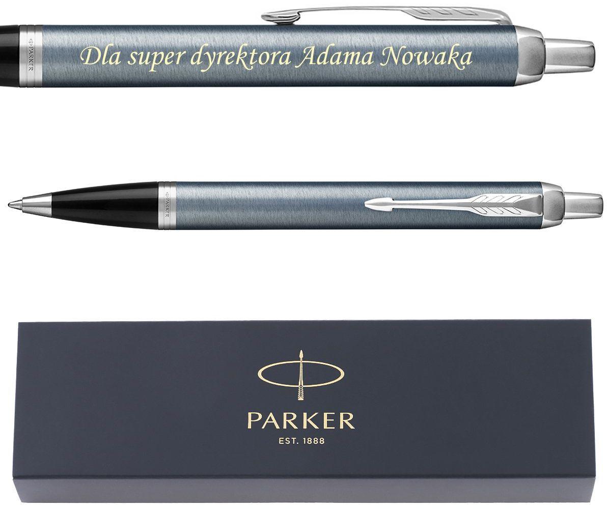 Parker IM długopis Blue Grey CT Grawer
