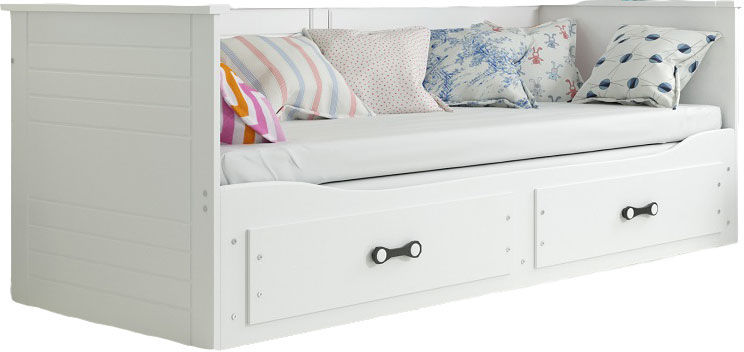 Białe rozsuwane łóżko młodzieżowe 80x200 - Aniko