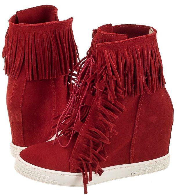 Sneakersy CheBello Czerwone T323/321 (CH29-c)