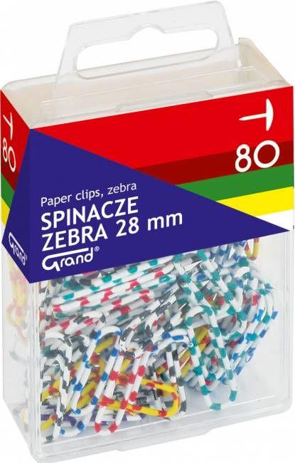 Spinacze ZEBRA 28 mm (80) - X00830