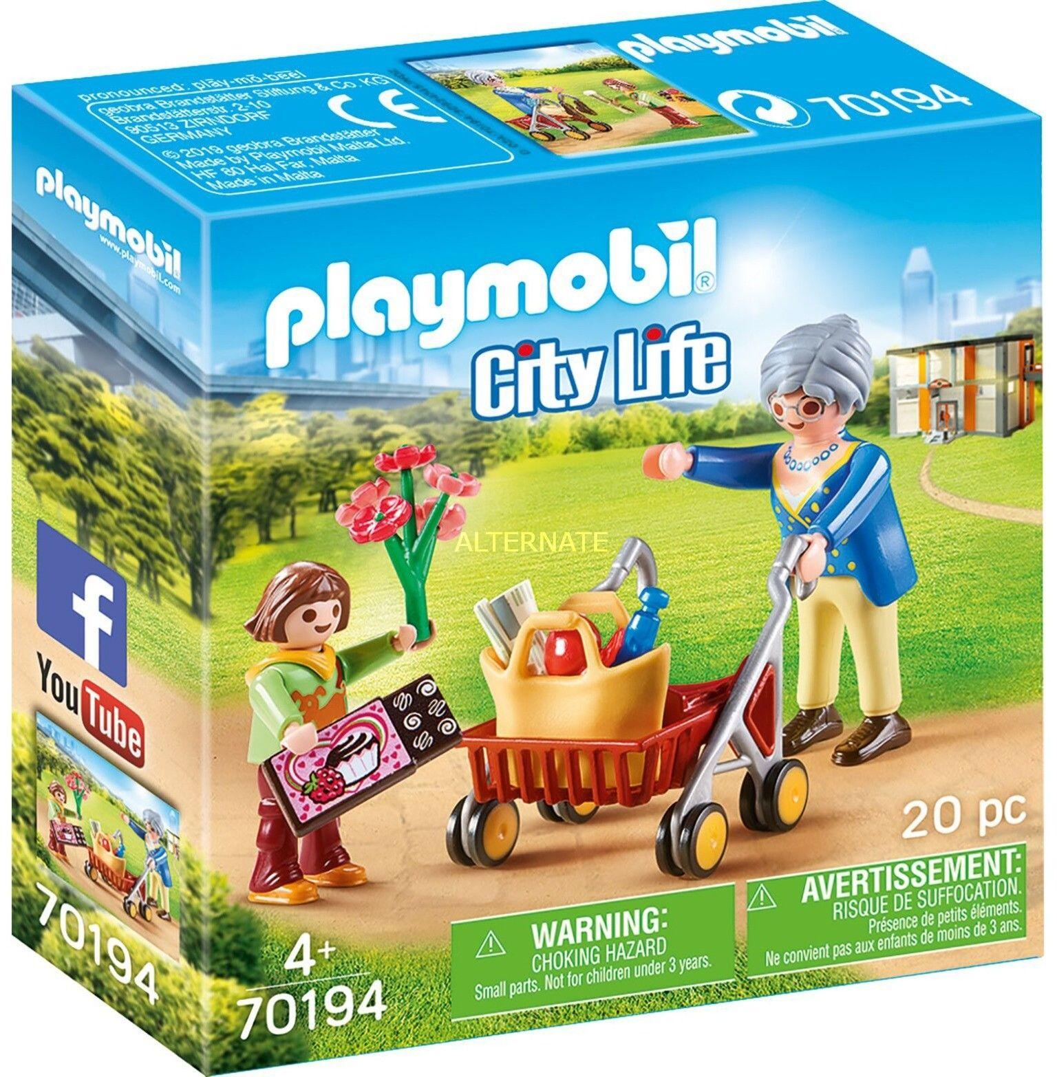 Playmobil - Babcia z chodzikiem 70194