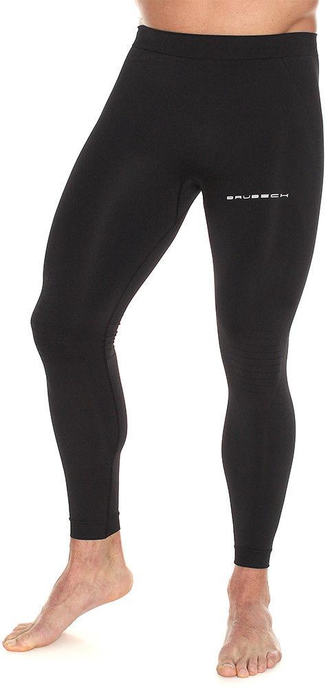 Męskie legginsy do biegania Brubeck RUNNING FORCE LE11460A black
