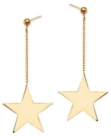 Srebrne kolczyki gwiazdki wiszące