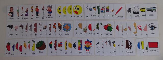 Zestaw kart edukacyjnych - czytanie globalne