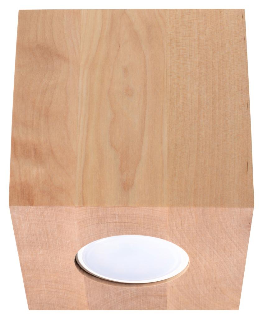 Downlight tuba Quad drewno SL.0493 - Sollux Do -17% rabatu w koszyku i darmowa dostawa od 299zł !