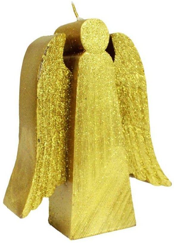 Świeczka Anioł złoty 13 cm