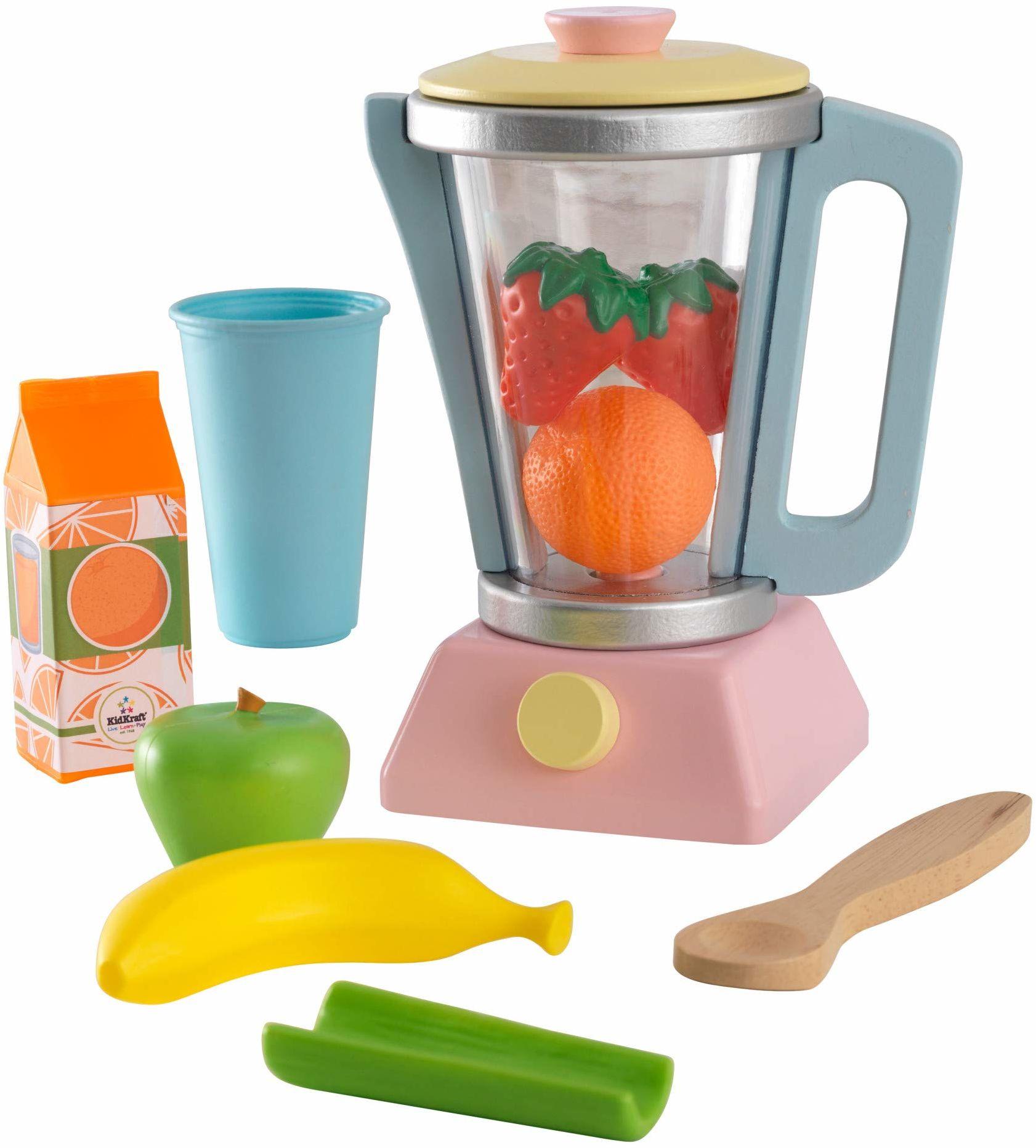 KidKraft 63377 pastelowe smoothie udawaj gra, akcesoria do gotowania dla dzieci zabawka kuchnia