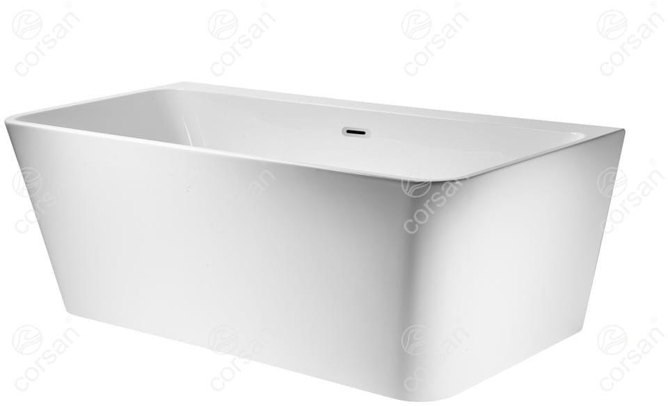 Corsan wanna wolnostojąca akrylowa ISEO 170x80x59 cm E019 + syfon klik-klak/ biała