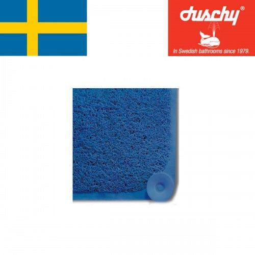 Mata antypoślizgowa brodzikowa niebieska, wannowa 44x75cm masaż stóp