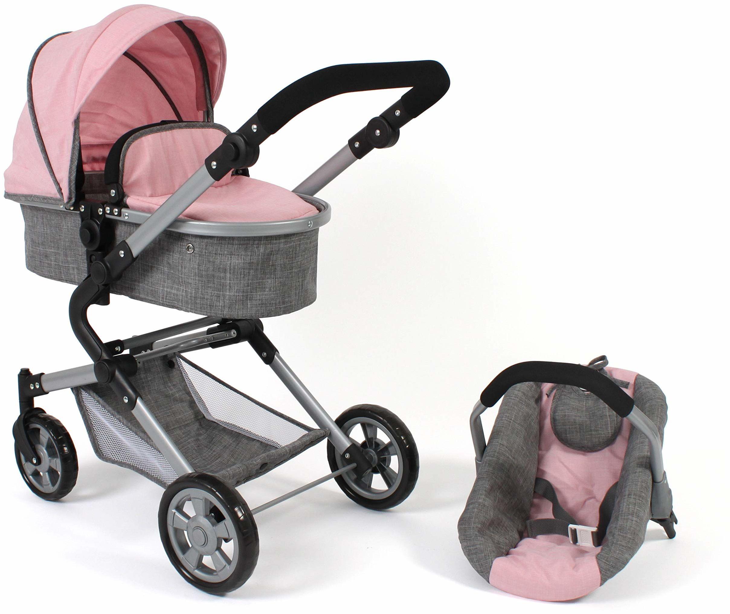 Bayer Chic 2000 597 15 wózek dla lalek Lia, melanż różowy