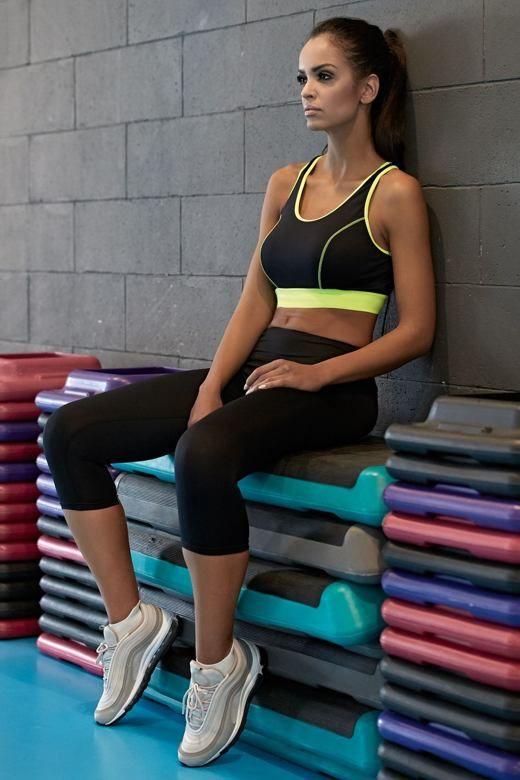 Fitness funkcyjne legginsy 3/4 Gabi czarne