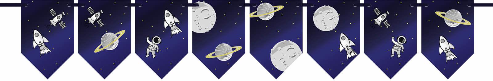 Baner flagi Kosmos - 300 cm - 1 szt.