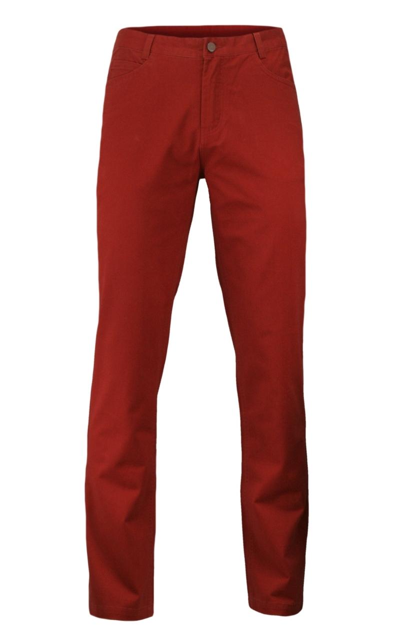 Casualowe Spodnie Męskie, 100% BAWEŁNA, Chinosy, Kolorowe, Czerwone SPEZREAL625red