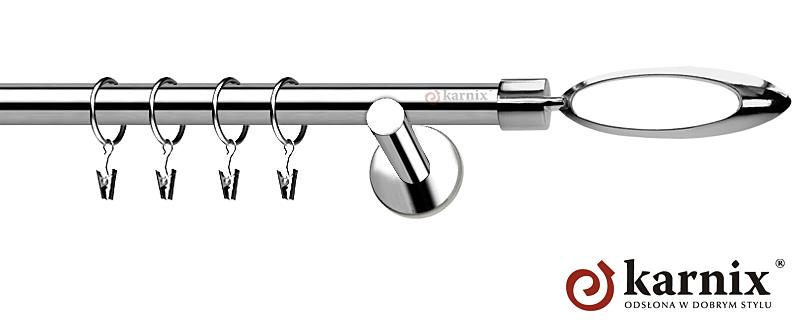 Karnisze nowoczesne NEO pojedynczy 19mm Mirella INOX