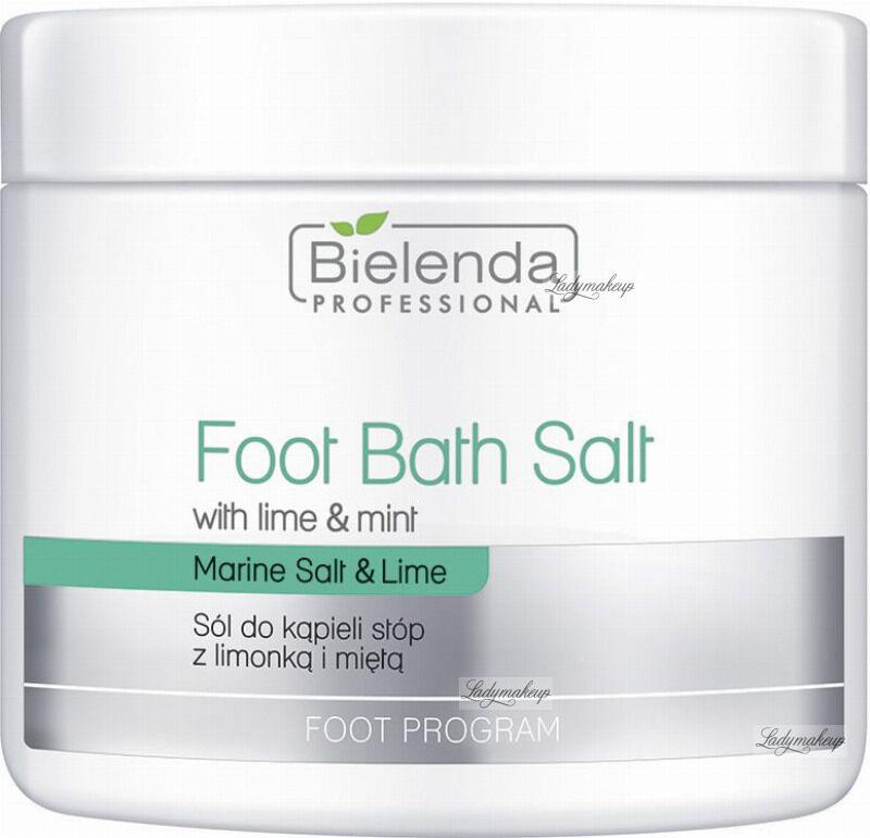 Bielenda Professional - Foot Bath Salt - Sól do kąpieli stóp z limonką i miętą - 600 g