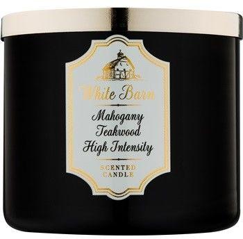 Bath & Body Works White Barn Mahogany Teakwood High Intensity świeczka zapachowa 411 g