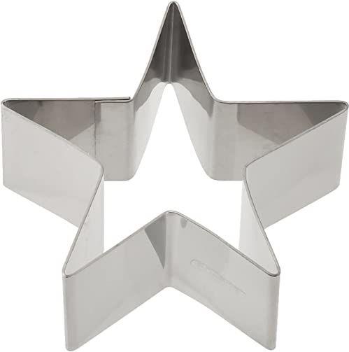 ibili pierścionek do ciasta w kształcie gwiazdy 10 x 4,5 cm ze stali nierdzewnej, srebrny, 10 x 4,5 x 10 cm