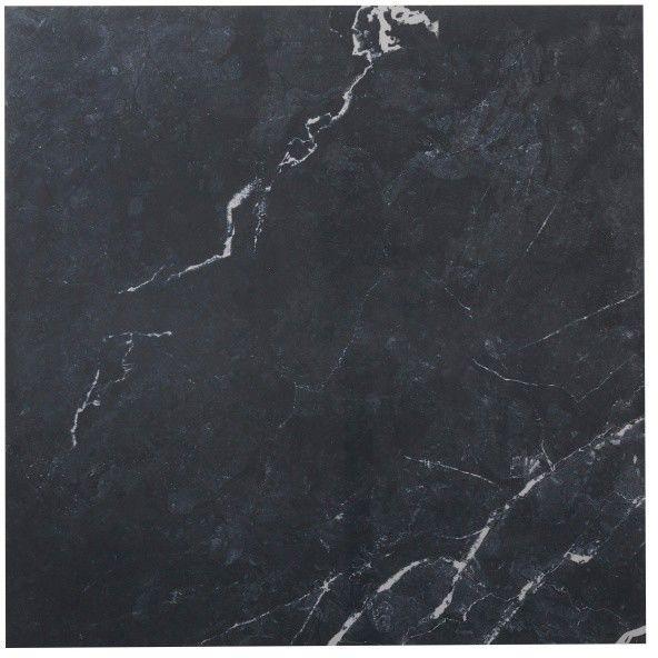 Płytka podłogowa Ultimate Marble Colours 59,5 x 59,5 cm black polerowana 1,06 m2