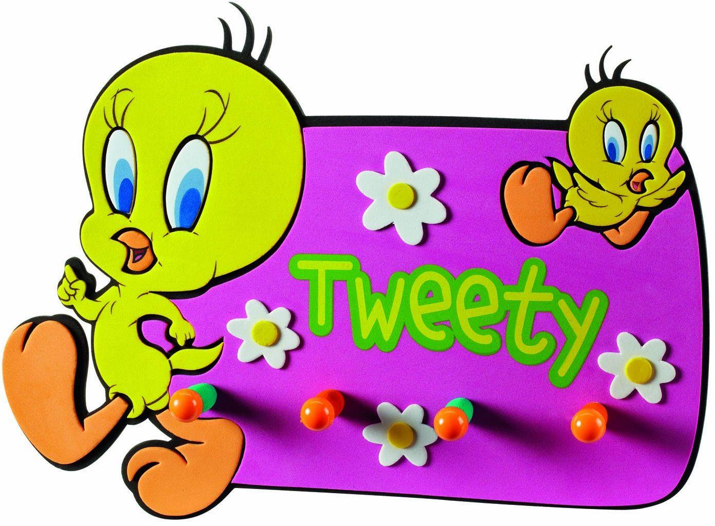 Joy Toy 020101 33 x 23 cm Looney Tunes Tweety plastikowy wieszak ścienny