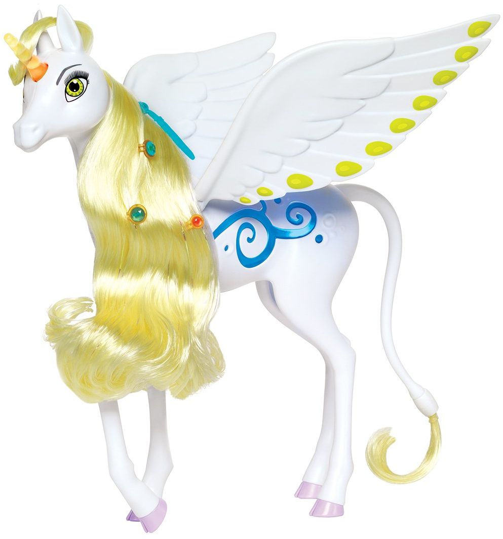 Simba 109480095 Mia and Me magiczny jednorożec Onchao ze światłem i dźwiękiem/ruchomymi skrzydłami / gra tytuł piosenki, 25 cm