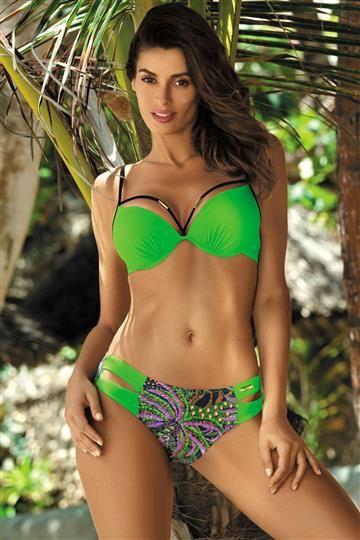 Kostium kapielowy Samantha Bright Green M-407 (1)