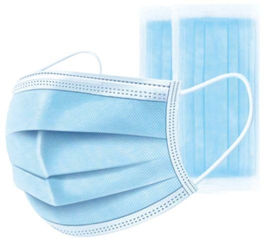 Maska Chirurgiczna 3 Warstwowa ochronna jednorazowa 50szt