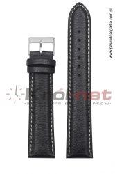 Pasek TK123/B/22XL - czarny long, białe nici