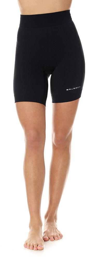 Damskie legginsy 1/2 do biegania Brubeck RUNNING FORCE LB10450 black