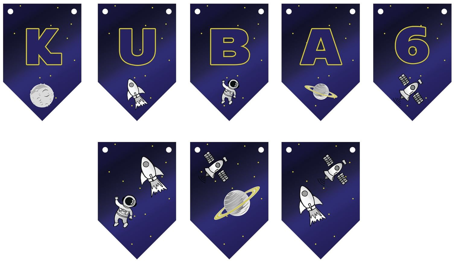 Baner flagi personalizowany Kosmos - 300 cm