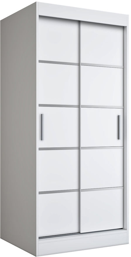 Biała dwudrzwiowa szafa przesuwna - Livia 2X