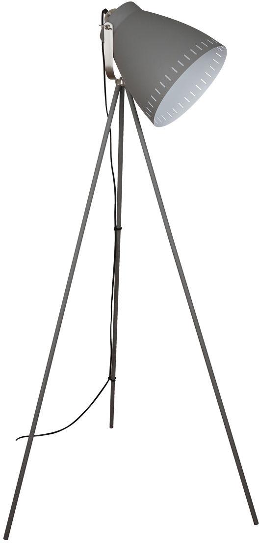 Italux lampa podłogowa Franklin ML-HN3068-GR+S.NICK szara trójnóg