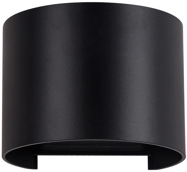 Italux kinkiet lampa ścienna Sorento PL-208B ROUND IP54 czarna LED 6W 3000K