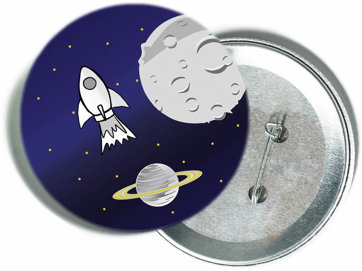 Przypinka Kosmos - 1 szt.