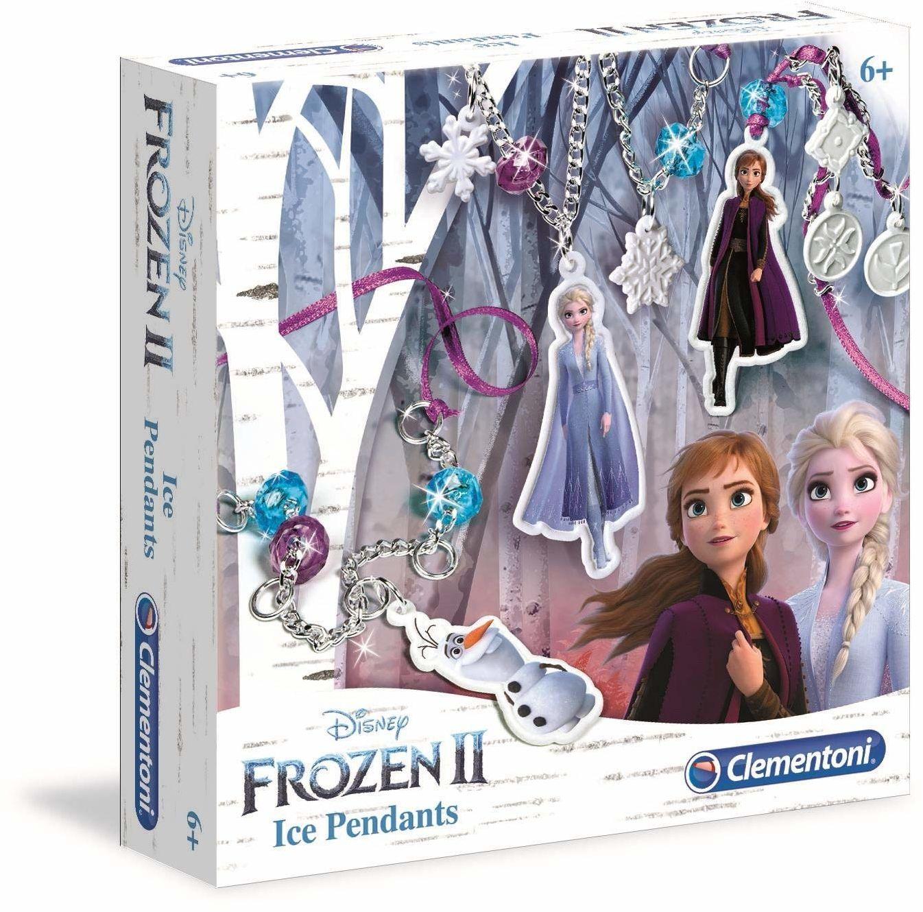 Clementoni 18567 Clementoni-18567-Disney Frozen 2 bransoletki - wyprodukowano we Włoszech rzemiosło dla dzieci od 6 lat i starszych biżuteria dla dziewczynki, angielski, wielokolorowy