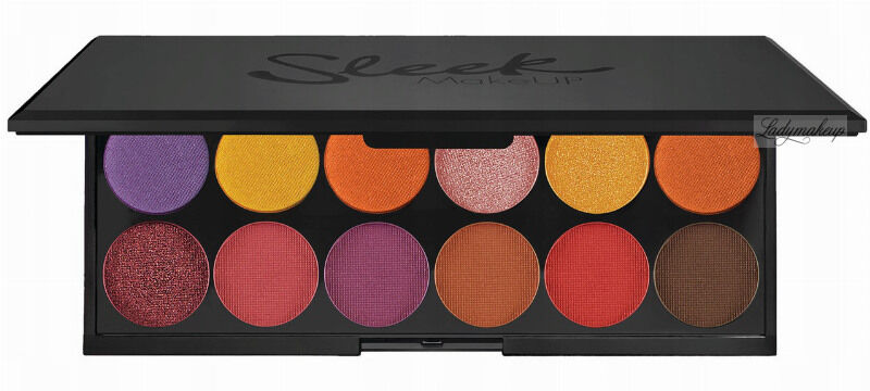 Sleek - i-Divine Mineral Based Eyeshadow Palette - Paleta 12 cieni do powiek - 1357 CHASING THE SUN