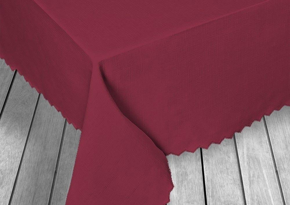 Obrus plamoodporny kolor/140x180/deseń PROLEN/18 BORDO