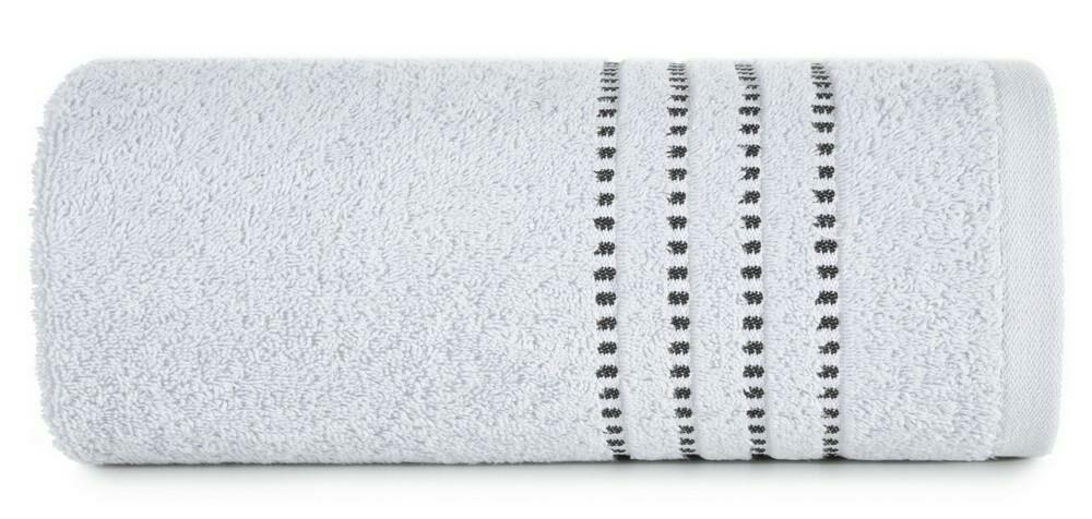 Ręcznik 50x90 Fiore srebrny 500g/m2 frotte Eurofirany