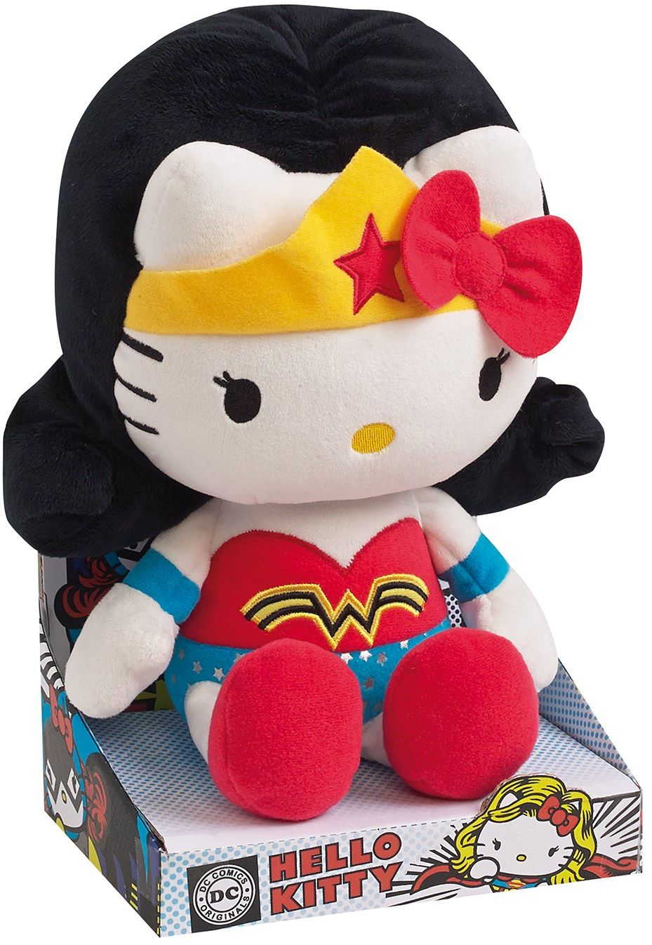 "Jemini Hello Kitty 022790 pluszowa figurka ""Wonder Woman"" DC Comics Super Heroes, 27 cm"