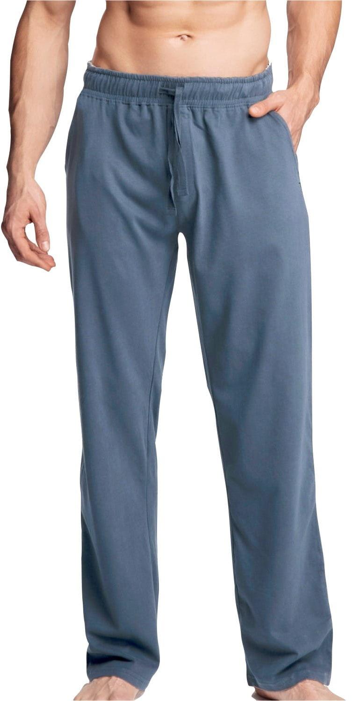 Męskie spodnie do piżamy Atlantic długie NMB 040 denim