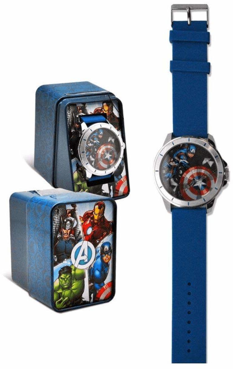 Kid Licensing - Analogowy zegarek na rękę Avengers Nauka, wielokolorowy (MV15785)