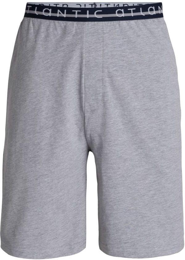 Męskie spodnie do piżamy Atlantic krótkie NMB 041 szare