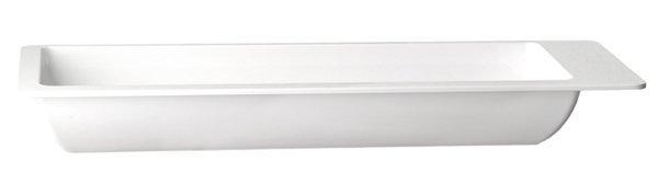 Misa prostokątna z melaminy GN 2/4 530x162mm biała