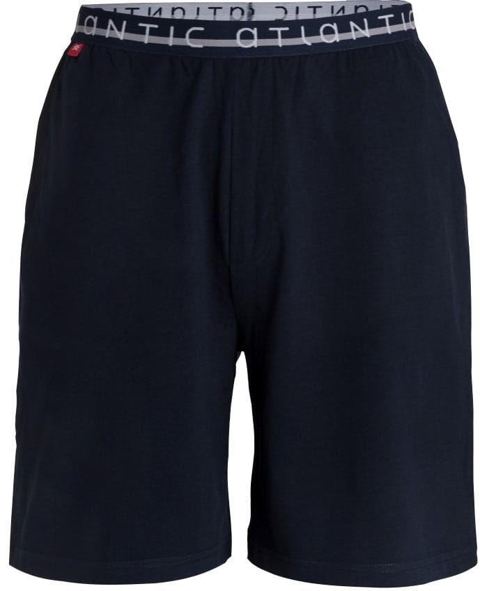 Męskie spodnie do piżamy Atlantic krótkie NMB 041 granatowe