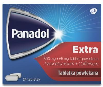 Panadol Extra lek przeciwbólowy - 24 tabletki