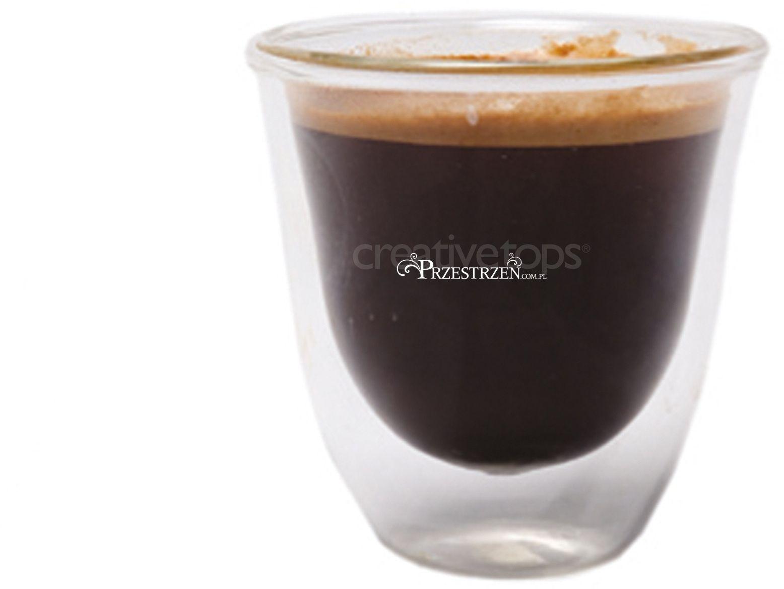 SZKLANKI Z PODWÓJNYMI ŚCIANKAMI - La Cafetiere Espresso JACK- 113 ml BIAŁE SZKŁO - KOMPLET 4 Szt.