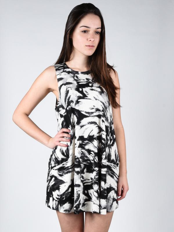 RVCA SUCKER PUNCHED Vintage White krótkie sukienki - L