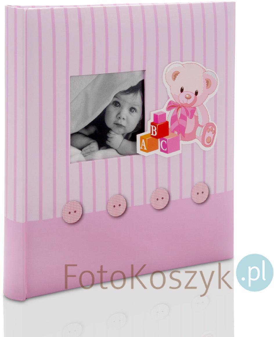 Album wklejany Baby''s Memories róż (tradycyjny 60 białych stron)
