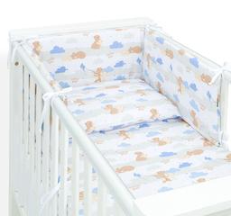 MAMO-TATO Ochraniacz dla niemowląt do łóżeczka 70x140 - Niedźwiadki beżowe