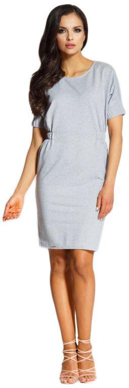 L206 sukienka z gumkami jasnoszary